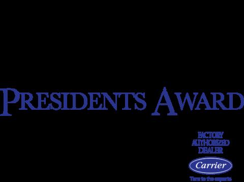 2021 President's Award Carrier